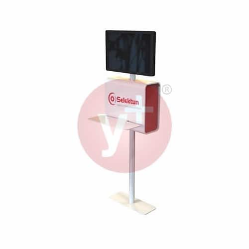 Pedestal para Pantalla con Gabinete y Repisa